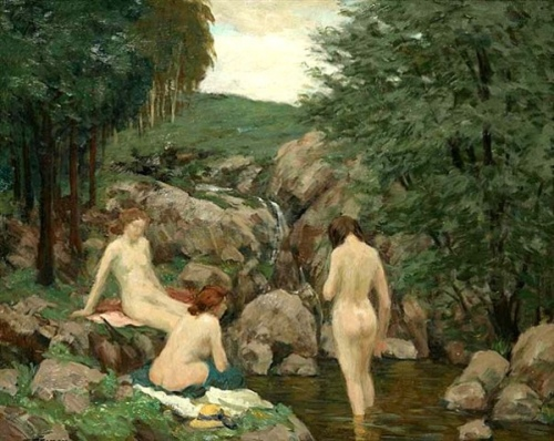 Bathing Women - Girls At The Waterside