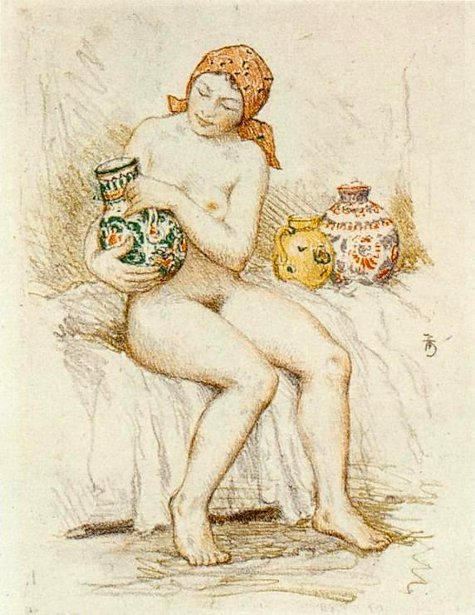 Girl With Pots
