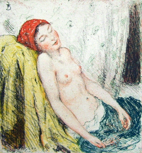 Maiden Resting - Sleeping Girl
