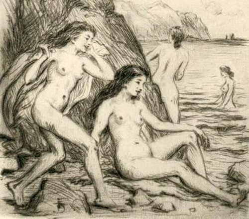 Nude Girls At The Sea