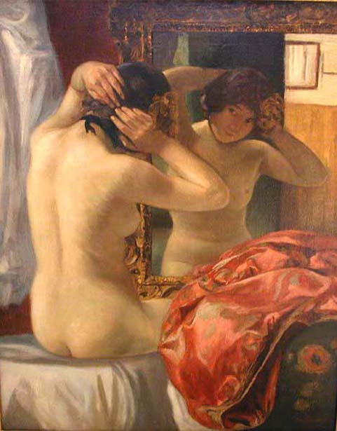 Nude In Front Of The Mirror