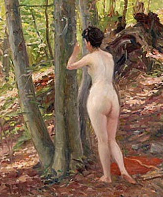 Nymph By A Tree