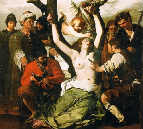 St. Agatha gets her breasts cut off