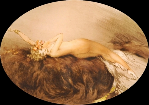 Venus - Reclining Nude With Flowers In Her Hair