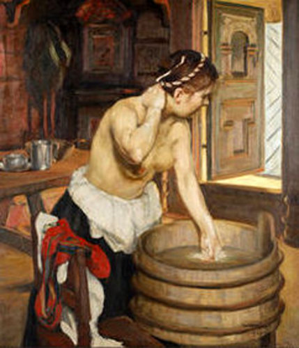 Woman Washing