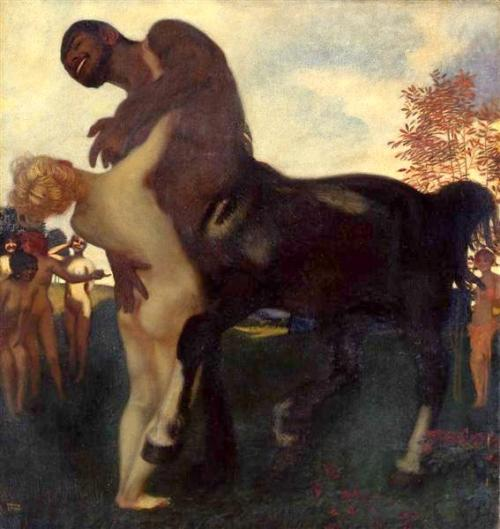 Centaur And Nymph