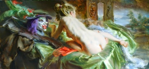 Female Nude With Mask