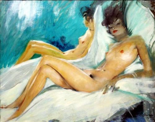 Femme au lit (Lelia)