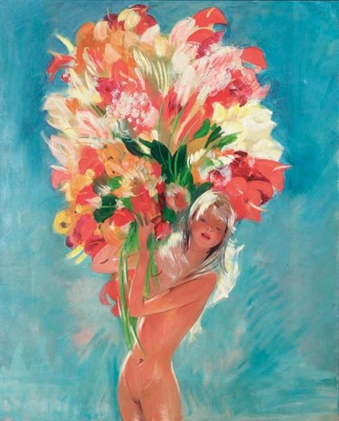 Jeune femme aux fleurs