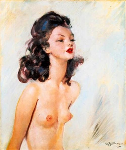 Jeune femme brune en buste