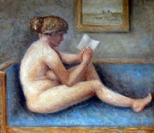 Nude Model On A Sofa
