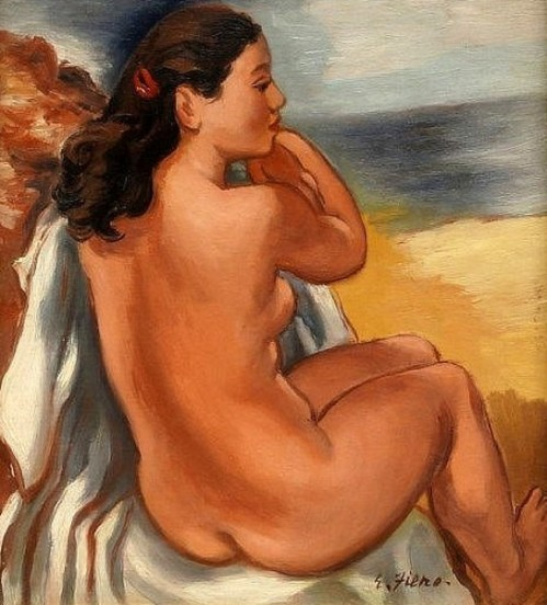 Nude On A Beach