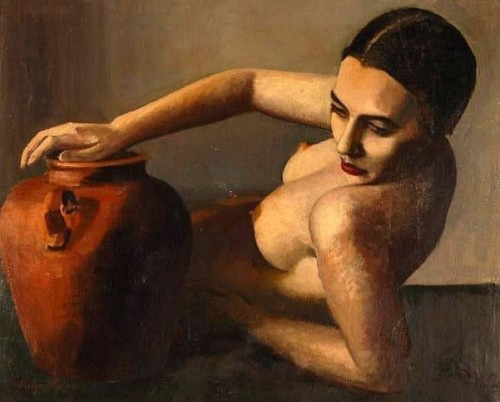 Nude Woman With A Terracotta Pot