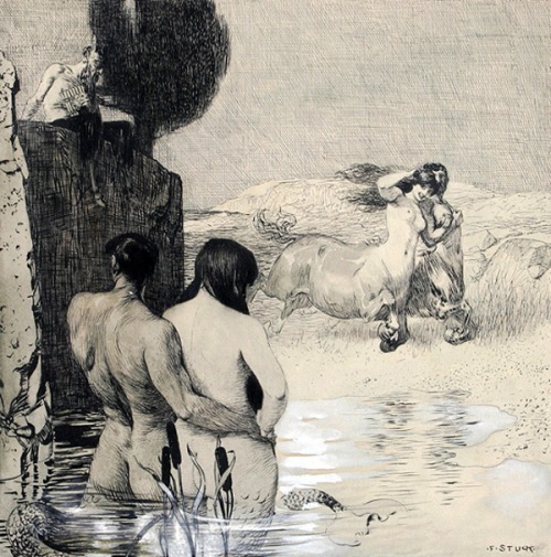 Pan Observing A Couple Of Centaurs And A Triton With A Nereid