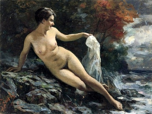 Female Nude On The Cliffs