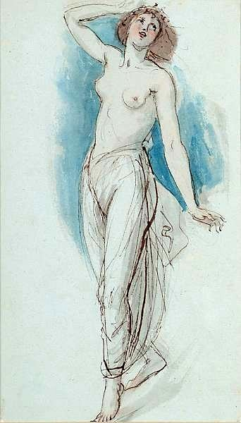 Draped Nude Figure