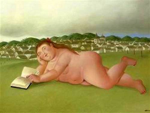 Nude Reading On The Grass