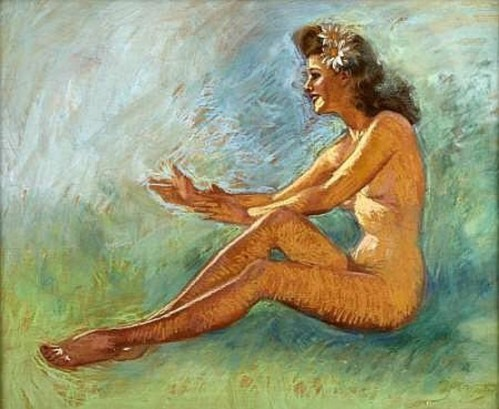 Nude With Daisies In Her Hair