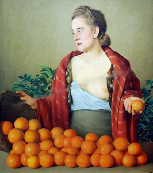 Sicilian Oranges Salesgirl