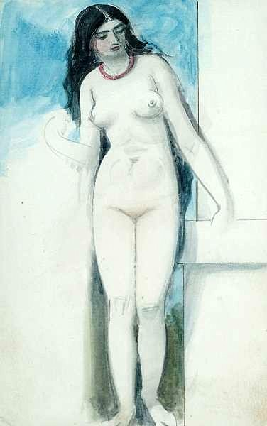 Standing Female Nude, Study