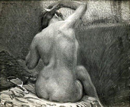 Nude Combing Her Hair