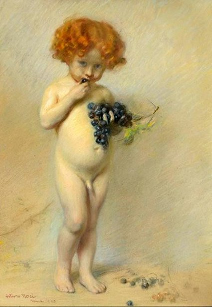 Child With Grapes