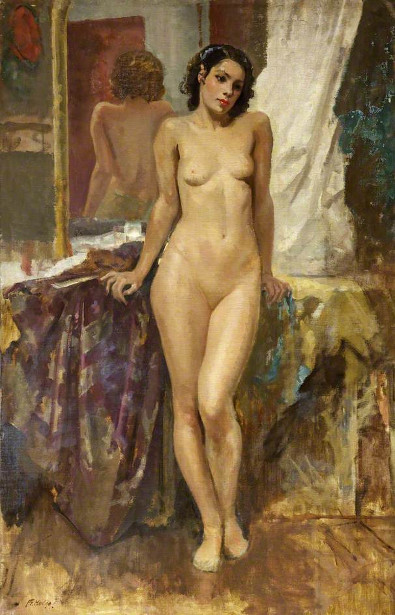For oil painting nude lovers