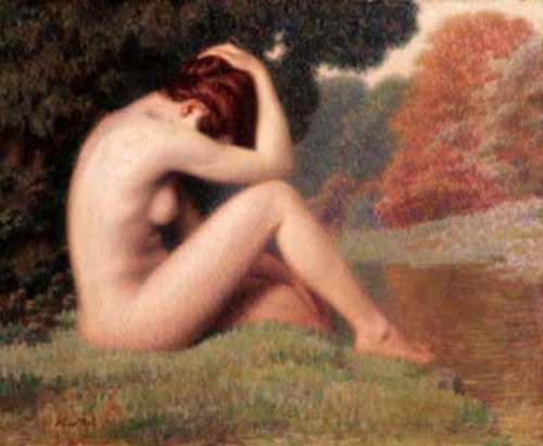 Nude Woman By The River