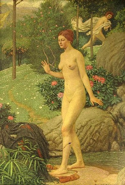 Two Nudes In A Landscape