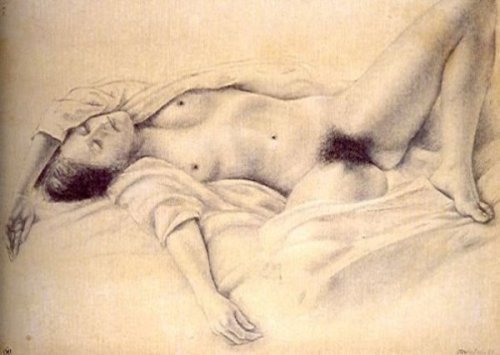 Desnudo acostado