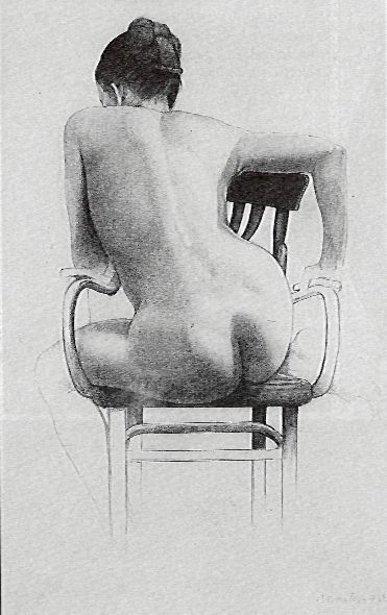 Desnudo de espaldas