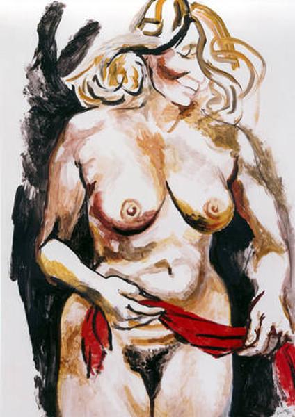Nudo con drappo rosso (Nude With Red Drape)