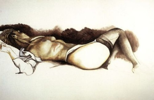 Nudo sdraiato con calze nere (Reclining Nude With Black Stockings)