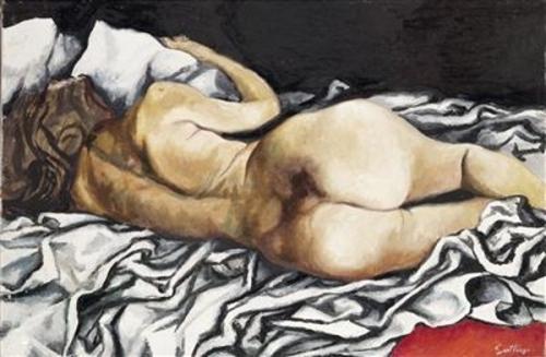 Nudo sdraiato di schiena (Reclining Back Nude)