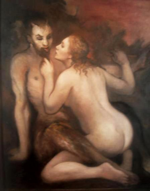 Satyr And Woman