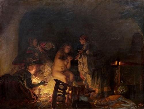 Christina Stripped Et cherché une par les serviteurs de la reine Sofie Amalie