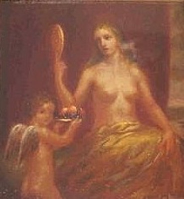 Nude And Cherub With Fruit