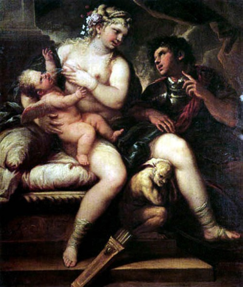 Venus, Cupid And Mars