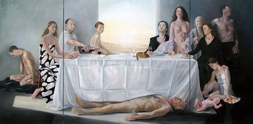 Abendmahl und 12 Begleiter