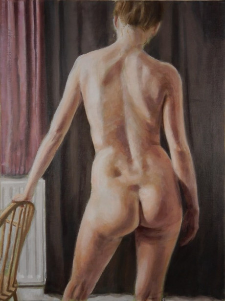 Female Nude And Chair