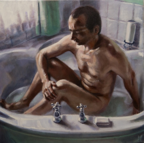 Man Bathing
