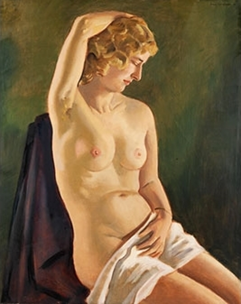 Seated Nude - Artist's Wife