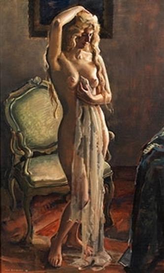 Standing Half Nude