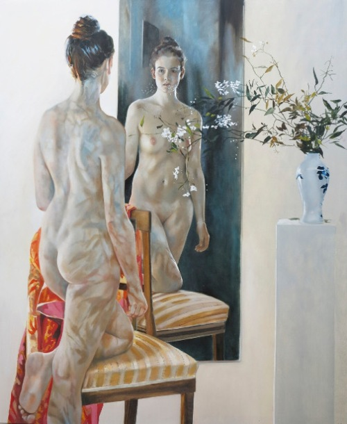 Still With Vase, Light And Mirror