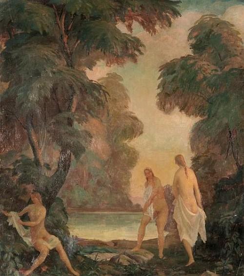 Three Bathing Girls