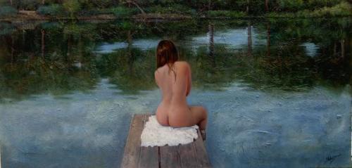 Desnudo en el lago