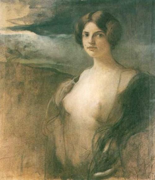 Half-Nude Woman