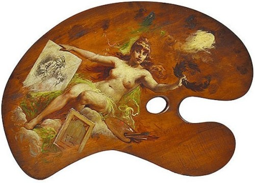 Nude On Wooden Artist's Palette