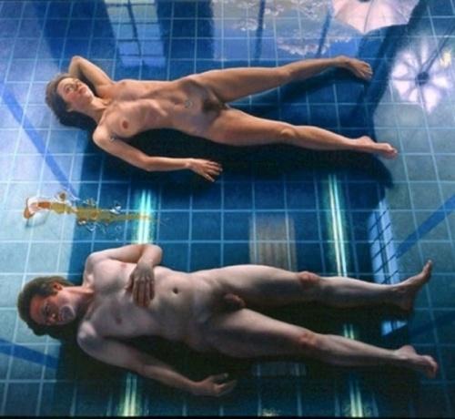 Two Models On Studio Floor