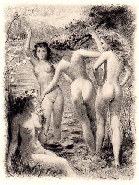 four-nude-women-on-lily-pond